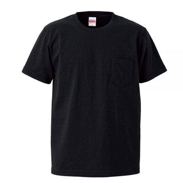 United Athle 7.1oz Heavy Weight Adult Cotton Pocket T-shirt 4253-01 Black 002