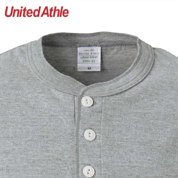 United Athle 5004-01 5.6oz 成人短袖亨利領T恤