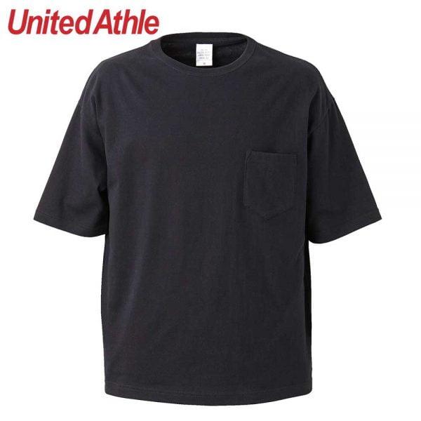 United Athle 5.6oz Adult Cotton Oversized T-shirt 5008-01 Black