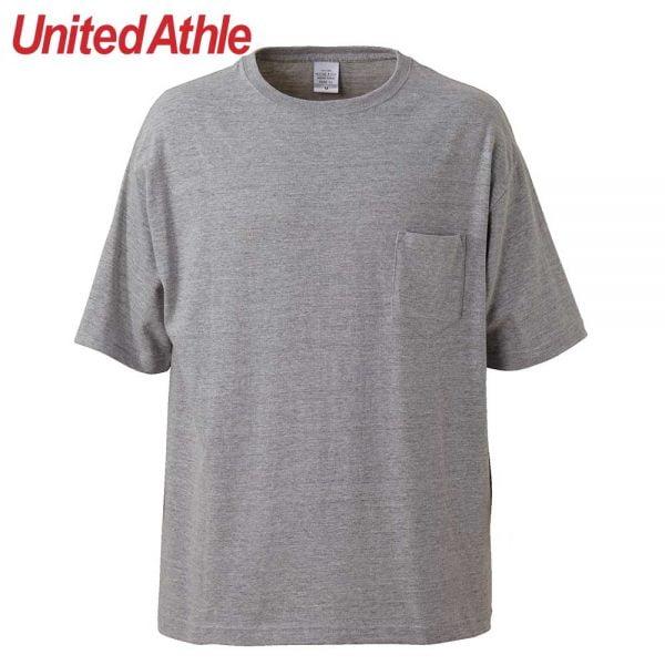 United Athle 5.6oz Adult Cotton Oversized T-shirt 5008-01 Mix Grey