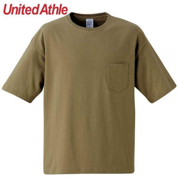 United Athle 5.6oz Adult Cotton Oversized T-shirt 5008-01 Khaki