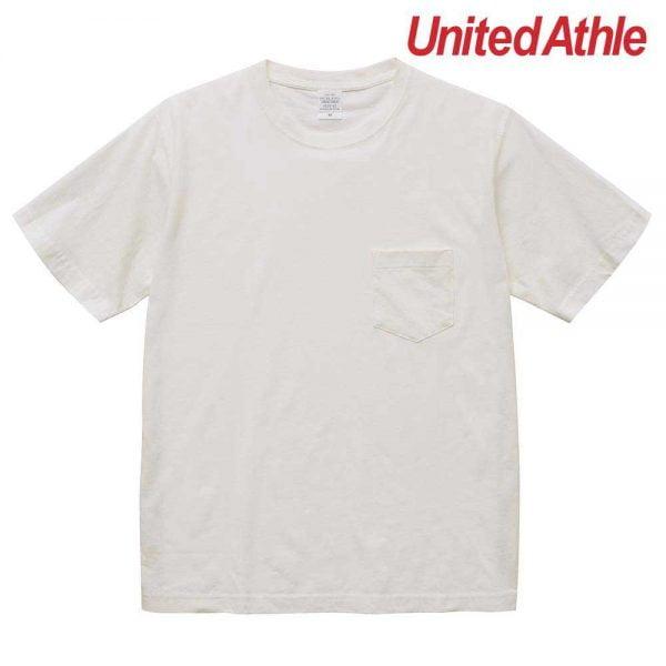 United Athle 5029-01 5.6oz Pigment Dye Adult Cotton Pocket Tee 5029-01 Rice