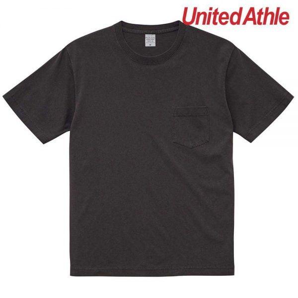 United Athle 5029-01 5.6oz Pigment Dye Adult Cotton Pocket Tee 5029-01 Black