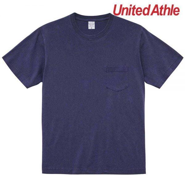 United Athle 5029-01 5.6oz Pigment Dye Adult Cotton Pocket Tee 5029-01 Navy