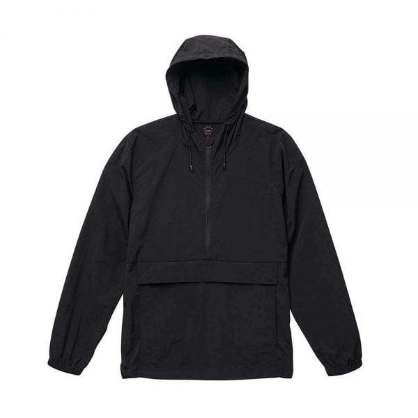 United Athle 7211 Nylon Waterproof Jacket - Black
