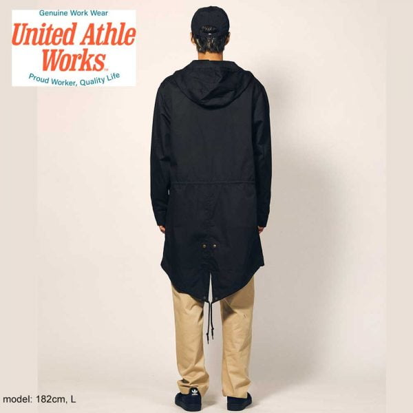 United Athle 7447 T/C Military Long Jackets - Military Green