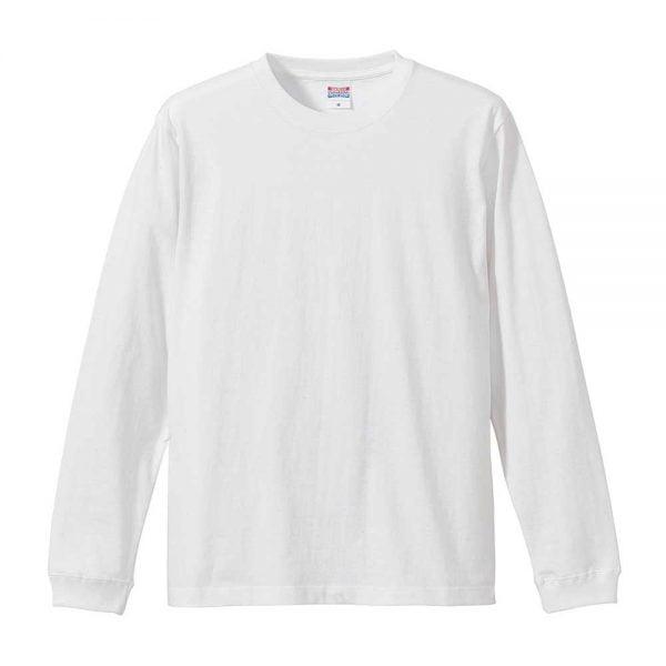 United Athle 5011 5.6oz Cotton Long Sleeve T-Shirt - 5011-01 White 001