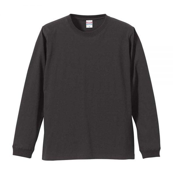 United Athle 5011 5.6oz Cotton Long Sleeve T-Shirt - 5011-01 Dark Grey 165