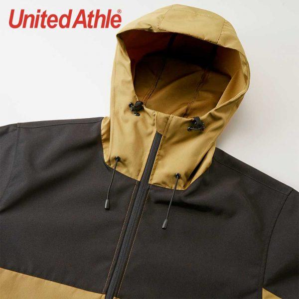 United Athle 7489-01 撞色 機能防風連帽外套 (單層)