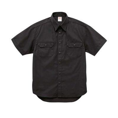 United Athle 1772-01 T/C 短袖有袋工作襯衫